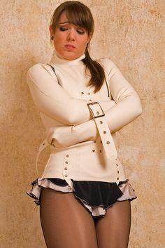 white latex straightjacket