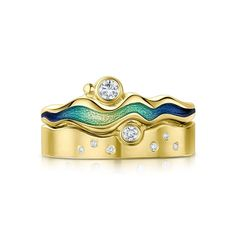 Discover the beautiful River Ripples Ring by Sheila Fleet. Explore our designer jewellery from Orkney, Scotland