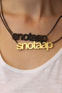 Snotaap! (zwart) van Naked Design op DaWanda.com