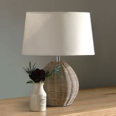 Rattan Medium Table Lamp, lounge, accessories, lighting