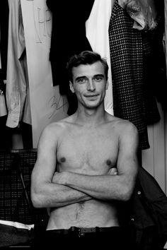 "saracimino: "" Clement Chabernaud  @ZegnaUS backstage """