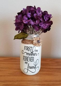 Mother's Day Gift, Gifts for Mom, Birthday Gift for Mom, Mason Jar Decor