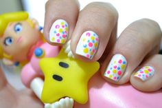 peach inspired nails =P