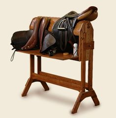 go to page to see details like a writing desk and saddle stand combined