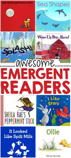 This list of 50 Emergent Readers is an awesome guide for finding developmentally appropriate books for your child! Emergent Literacy, Emergent Readers, Early Literacy, Leveled Readers, Reading Activities, Teaching Reading, Reading Lists, Reading Help