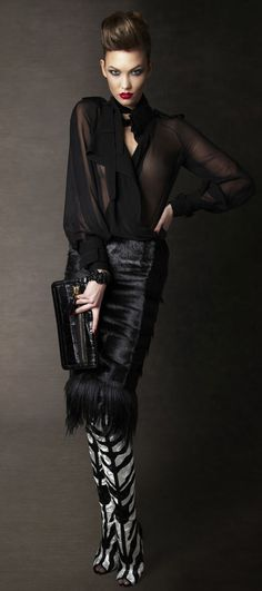 MIKE KAGEE FASHION BLOG: TOM FORD 2011 /2012 AUTUMN/WINTER WOMENS LOOKBOOK