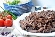 Szarpana wołowina z marokańskim akcentem