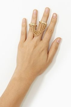 Chained Stud Rings