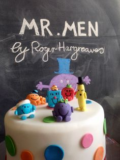A personal favorite from my Etsy shop https://www.etsy.com/au/listing/252488121/mr-men-cake-decorations