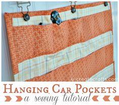Hanging Car Pockets Sewing Tutorial