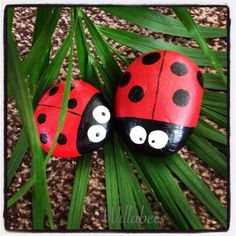 Lissa and Libbi x hand painted ladybirds  ©Willabees