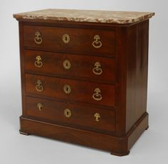 French Empire cabinet/case-piece chest mahogany