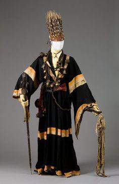 shamon's costume quill headdress western Nepal .