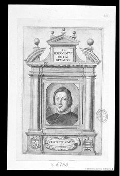 [Retrato de Fernando Ortiz de Valdes]. Villafranca Malagón, Pedro (ca. 1615-1684) — Grabado — ?