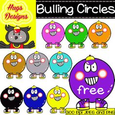22 FREE Bulling Circles Cliparts for Personal and Commercial Use