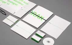 Interesting identity for Anorak created by a firm in Norway. The green edges of the cards is nice