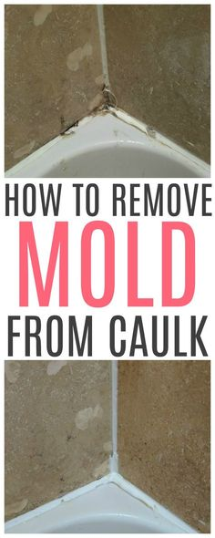 Trying to clean moldy caulk? Check out these easy tips on how to remove mold from caulk. It works great to remove mold from shower caulk. Cleaning Tips How To Remove Mold From Caulk Deep Cleaning Tips, House Cleaning Tips, Cleaning Products, Cleaning Recipes, Cleaning Baking Pans, Clean House Tips, Bathroom Cleaning Tips, Deep Clean House, Cleaning Shoes