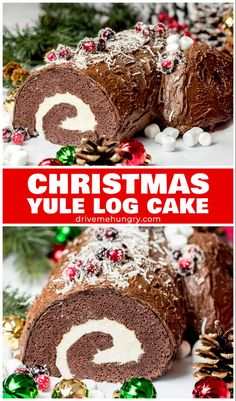 Christmas Yule Log Cake – Buche de Noel Yule Log Cake aka Buche de Noel is a traditional French Christmas cake. A light sponge cake filled, rolled & decorated to resemble a log. An amazing holiday dessert that's beautifully presented. Christmas Yule Log, French Christmas, Christmas And New Year, Christmas Cookies, Christmas 2019, Best Christmas Recipes, Holiday Recipes, Winter Recipes, Fun Holiday Desserts