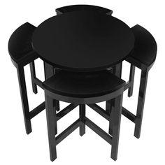 Black Art Deco Design Game Table