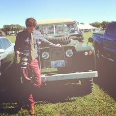 preppy photographer with a tomboy approved vehicle. need i say more?