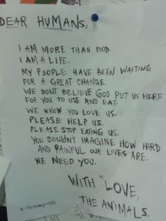 Letter Pinned to a Board at Whole Foods Market <3 #MyVeganJournal