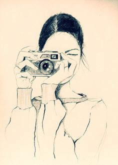 Illustration Girl With Camera - Sketchbook Tuesday Eve on Behance