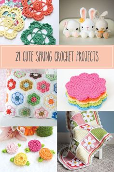 21 Cute Spring Crochet Projects - these are so fun!
