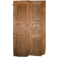 Antique Walnut Double Door   From a unique collection of antique and modern doors and gates at https://www.1stdibs.com/furniture/building-garden/doors-gates/