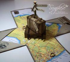 Explosion Box Australien, Geschenk, Reise, scraphexe.de