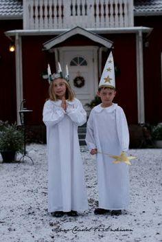 Lucia och stjärngosse ....Maiden Lucia and star lad ♥ Fyra årstider - mitt liv på landet: jul