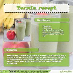 Egy finom zöld turmix almával és banánnal #turmix #recept Cantaloupe, Ale, Smoothies, Minden, Fruit, Drinks, Health, Food, Beverages