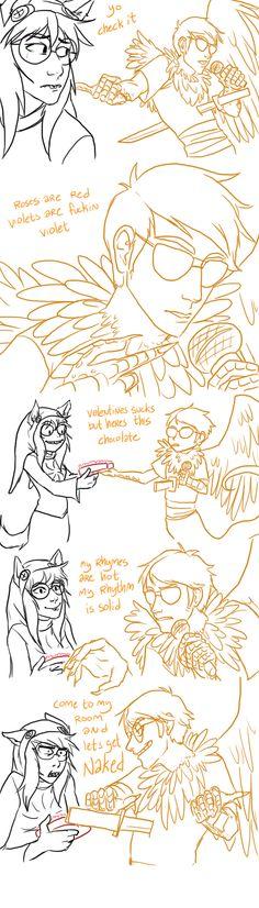 Jade and Davesprite Valentine's by zombieskully.deviantart.com on @deviantART<== OH MY GOD DAVESPRITE! WAS THAT NECESSARY?!