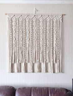 Macrame Design, Macrame Art, Macrame Projects, Modern Grey Kitchen, Grey Kitchen Designs, Macrame Wall Hanging Patterns, Macrame Patterns, Cotton Curtains, Diy Curtains