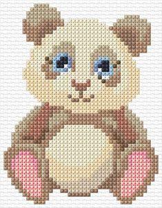 Children/'s Cross Stitch Kit Con Aro-HERMOSO BÚHO con perro Pingüino Ladybird Diseño