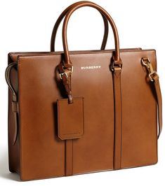 Tobacco Leather Briefcase by Burberry. Buy for $1,795 from Nordstrom