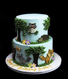 Fairy land Animals theme cake