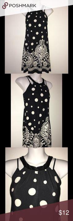 "BLACK & WHITE ""FOREVER"" POLKA DOT TOP/DRESS SZ S Black and white polka dot ""FOREVER"" A-Line dress/top. Size S 29"" Neckline to Hem. 16"" Armhole 34"" Across Chest 44"" Hem Circumference Polyester and Spandex 💞 Forever Dresses"