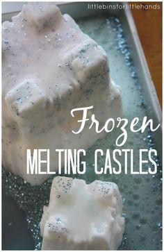 Frozen Inspired Melting Castles Baking Soda Science Activity Sensory Play