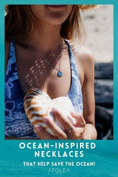 Take the beach with you where ever you go with our Beach Wave Necklace and let this necklace reflect on the glorious memories held in your heart. Beach vibes all. year. long with these beach ocean inspired rings, bracelets and necklaces. Head on to our website at atoleajewelry.com We offer free shipping anywhere you are!