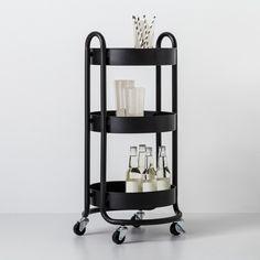 Round Metal Utility Cart Matte Black - Made By Design™ : Target Pot Storage, Storage Cart, Utility Cart, Cube Organizer, Basket Decoration, Kitchen Cart, Kitchen Ideas, My New Room, Declutter