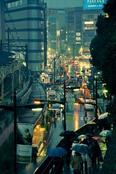 Rainy night in Tokyo; Michael Franks sang it so well...