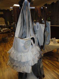 Vintage ruffle bags at Preservation Station- www.visitpreservationstation.com