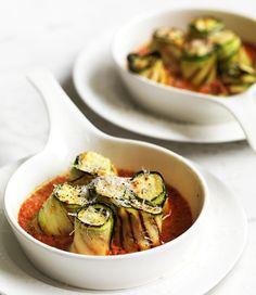 Zucchini roll ups. #zucchini
