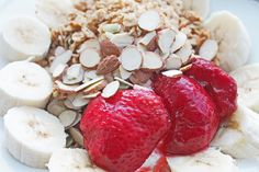 Clean Eating Breakfast: Nuts, Seeds, Granola and Fruit Topped Greek Yogurt | Clean Eating Meal Plan | Easy and Cheap Healthy Meals | Weight Loss Meal Plan