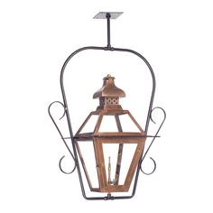 Bayou Outdoor Gas Ceiling Lantern In Aged Copper 7920-WP