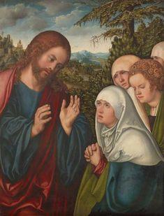 ❤ - LUCAS CRANACH (1472 - 1553) -  Christ taking leave of his mother - 1520.  Kunsthistorisches Museum, Gemäldegalerie.