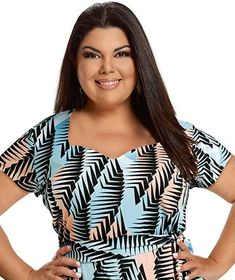 Fabiana Karla by Hiroshima - Vestido em helanca Hiroshima, Moda Plus Size, Dresses, Women, Fashion, Chubby Ladies, Extra Money, Monkey, Sewing Projects