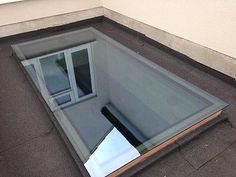 Details about Skylight Roof Lantern Glass Flat Rooflight Double Glazed Many Sizes Porch Roof, Roof Window, Shed Roof, House Roof, Roof Architecture, Architecture Details, Flat Roof Skylights, Shed Design Plans, Moderne Pools