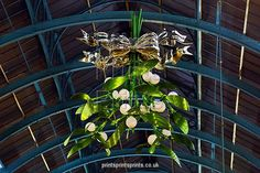 New Mistletoe Christmas decorations in Covent Garden, London