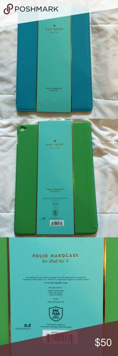 ♠️Kate Spade♠️Folio Hardcase For IPad Air 2 Brand new hardcase. kate spade Accessories Tablet Cases